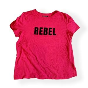 Hot Pink REBEL Tee Forever 21 size Large